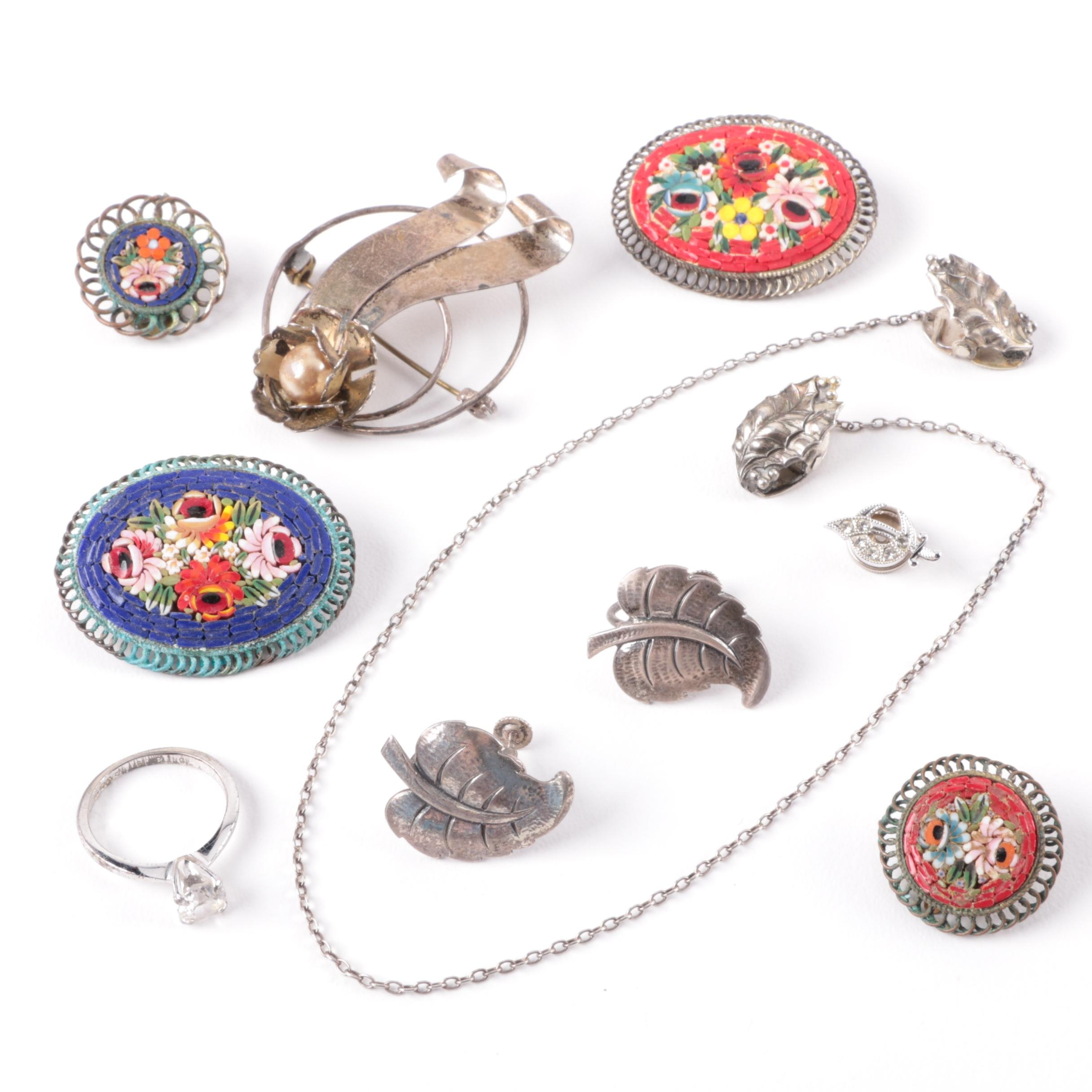 Sterling Silver Jewelry Featuring Mosaic Glass