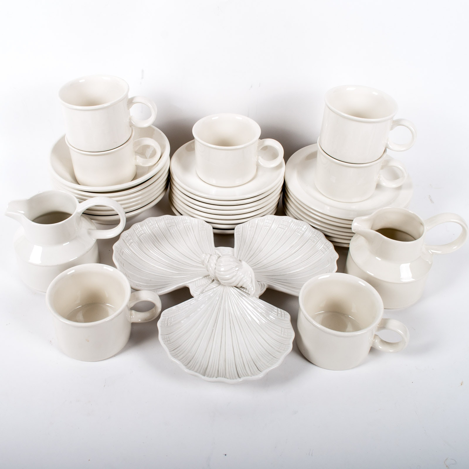 "Midwinter Ltd. ""StoneHenge White"" Ceramic Set with Italian Ceramic"