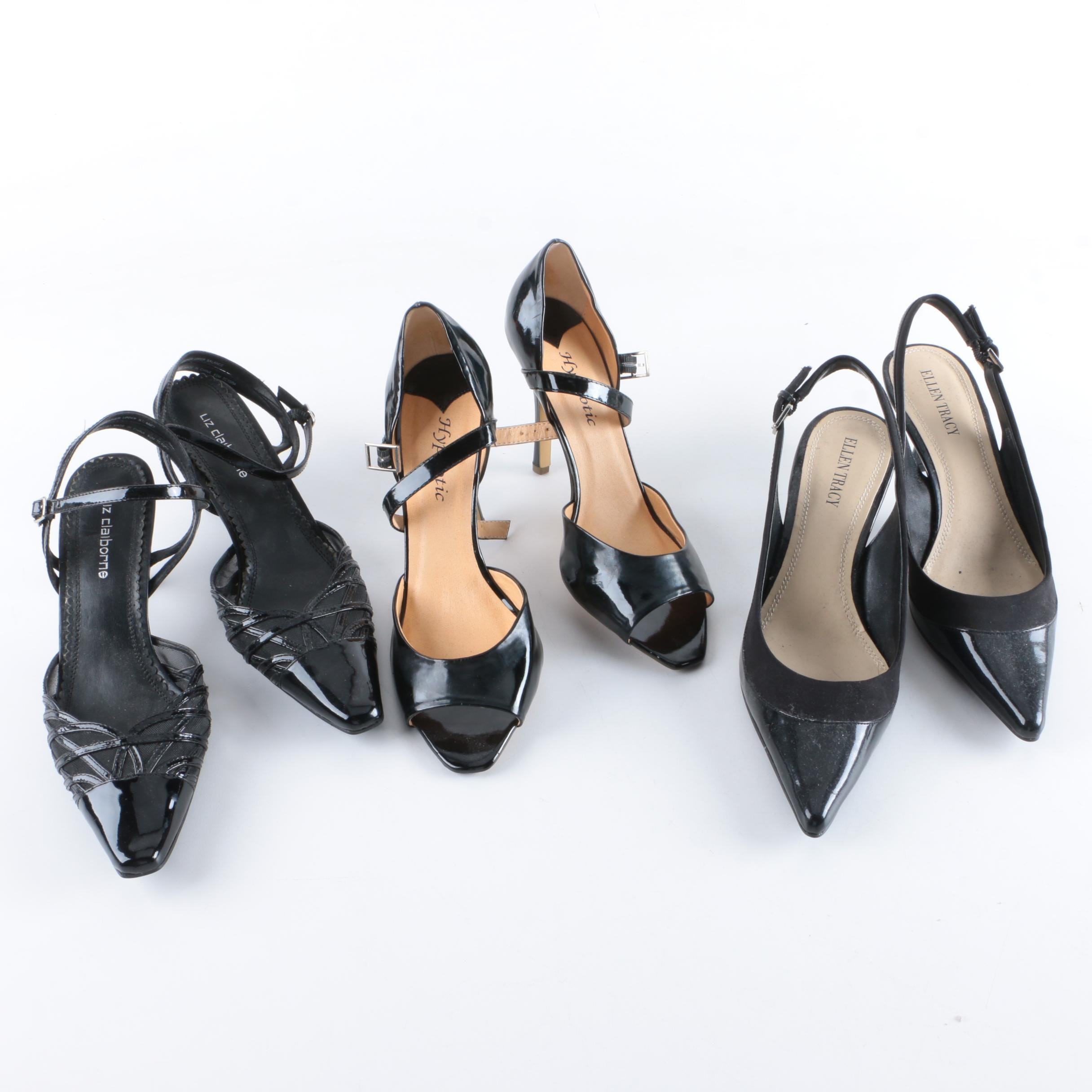 Women's Black Patent Leather High Heels