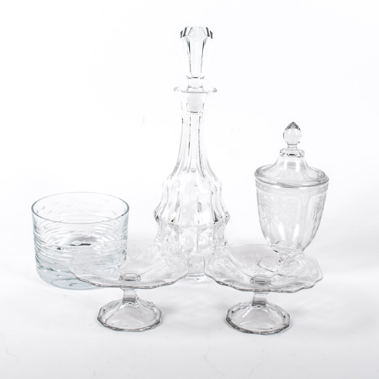 Krosno Glass Bowl and Assortment of Decorative Glass