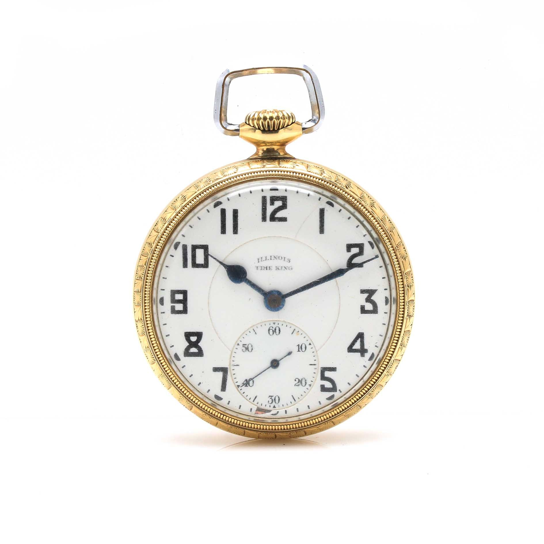 Illinois Time King Open Face Pocket Watch