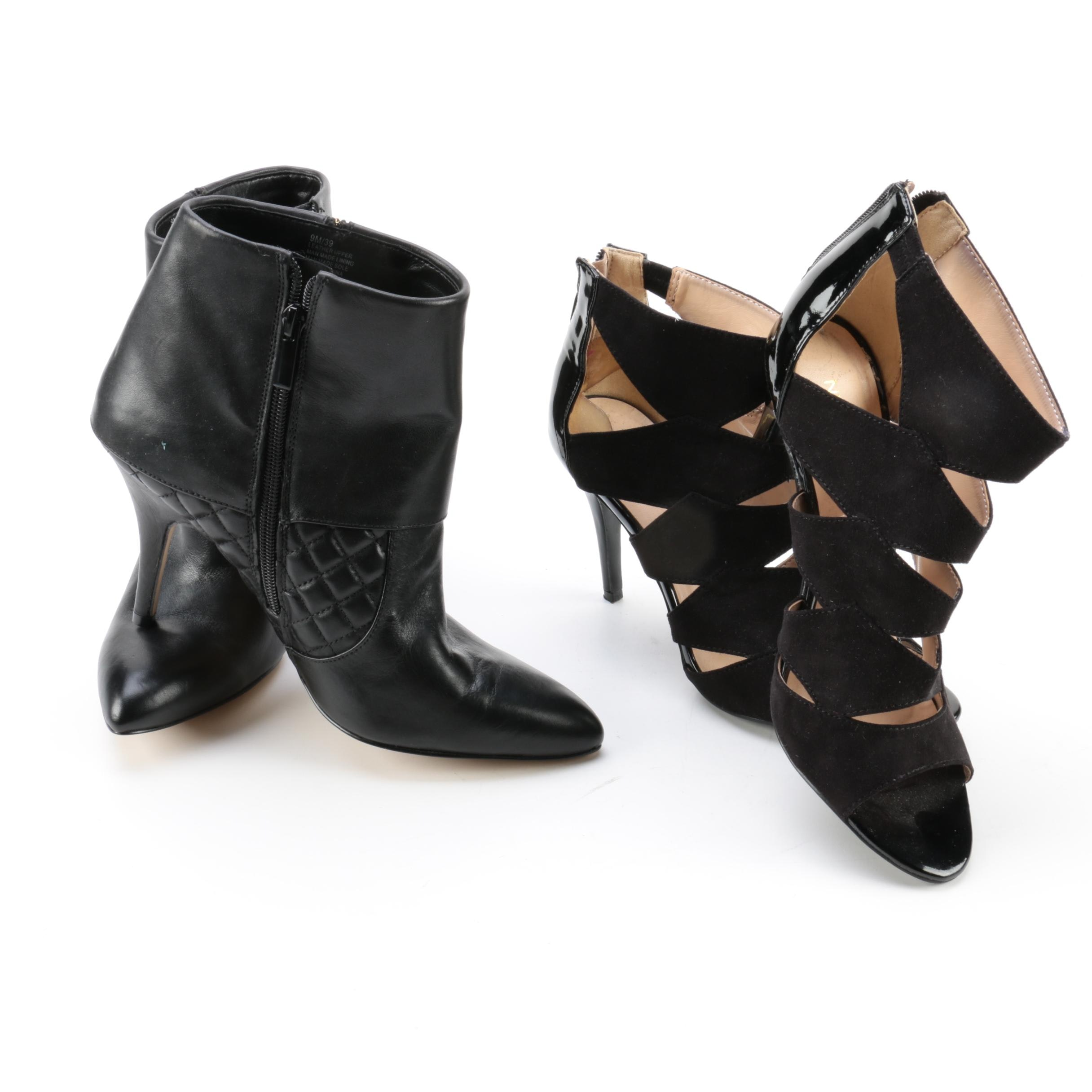 Women's Black Stiletto Heels and Booties