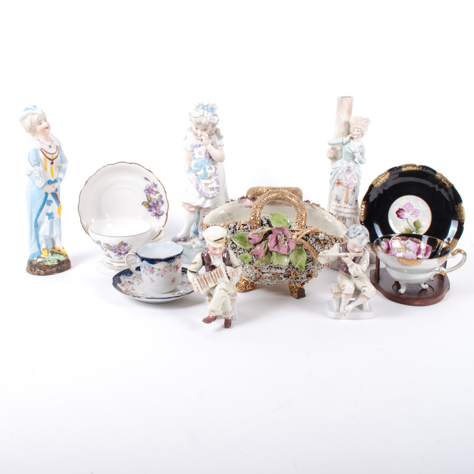 Assortment of Decorative Porcelains