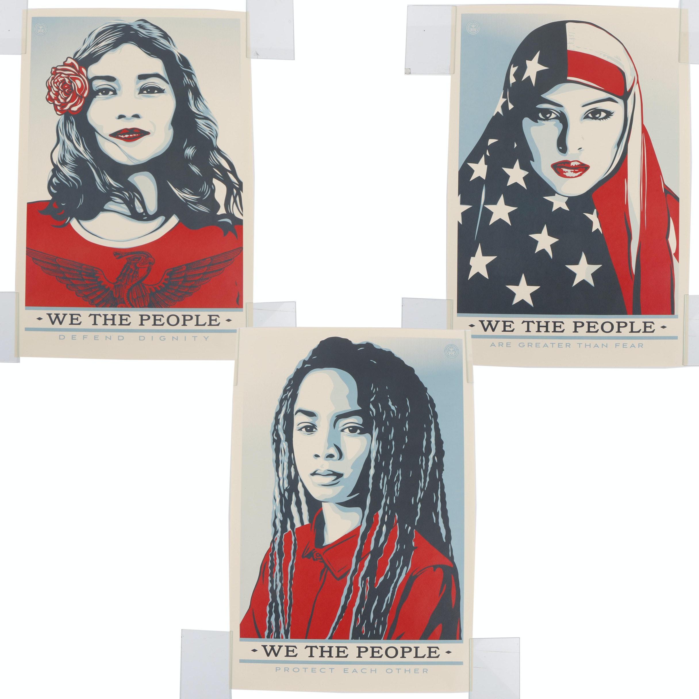 "Shepard Fairey Serigraph Prints ""We the People"""
