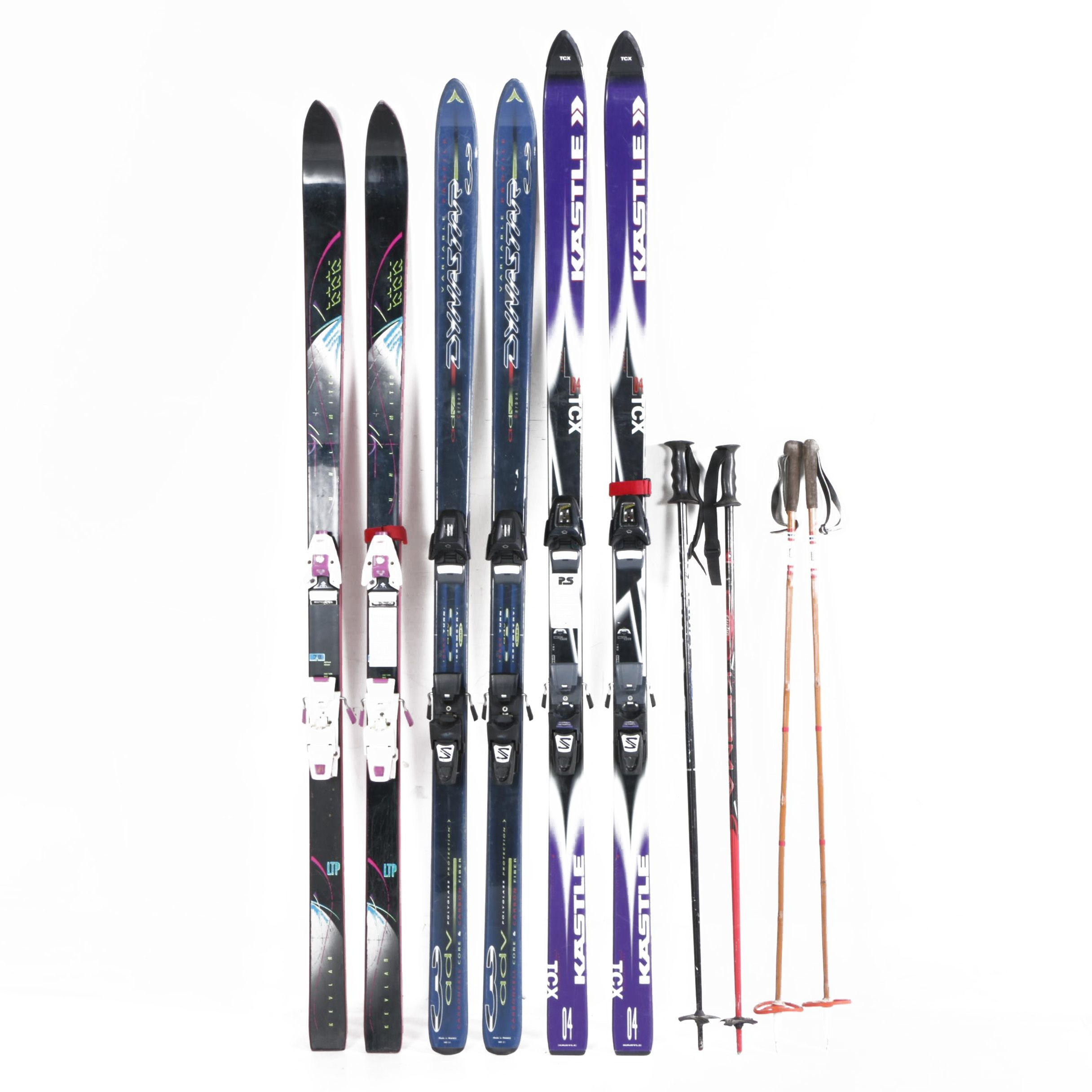 K2, Dynastar, and Kastle Downhill Skis