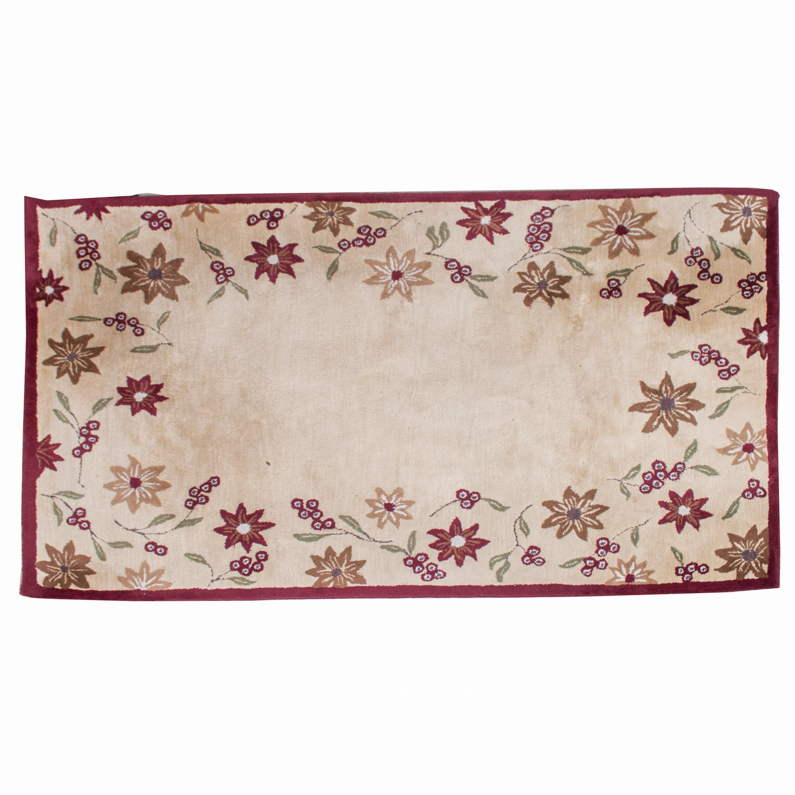 "Pottery Barn Handcrafted ""Madeline"" Wool Area Rug"