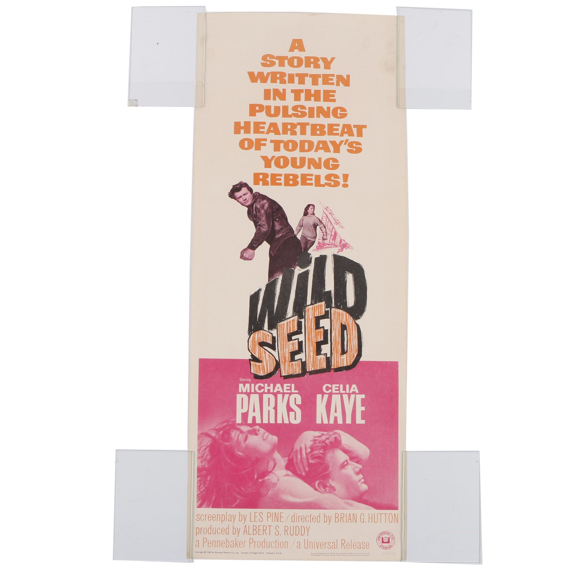"1965 ""Wild Seed"" Lithograph Movie Poster"
