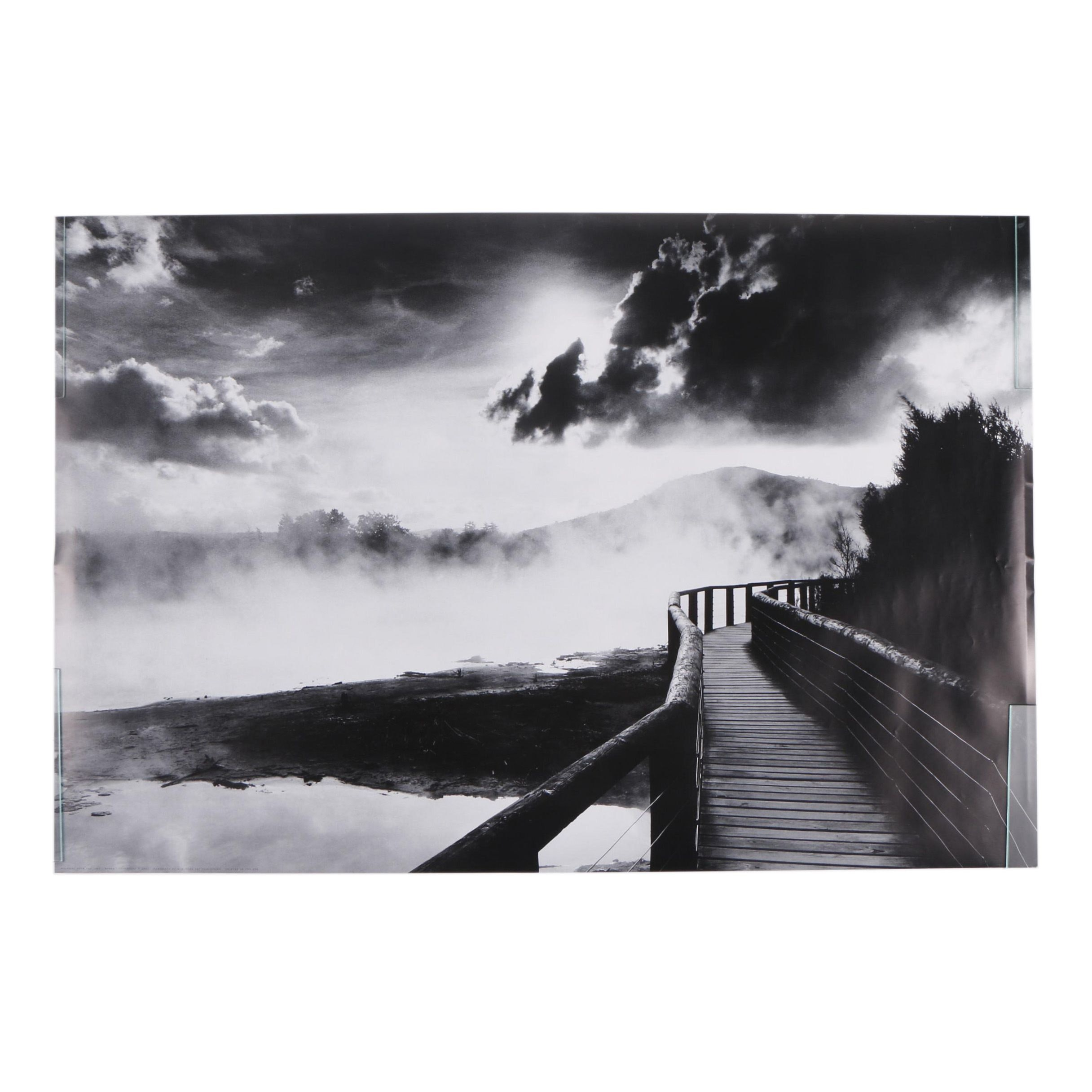 """2006 Offset Lithograph """"Walkway over the Lake"""""""