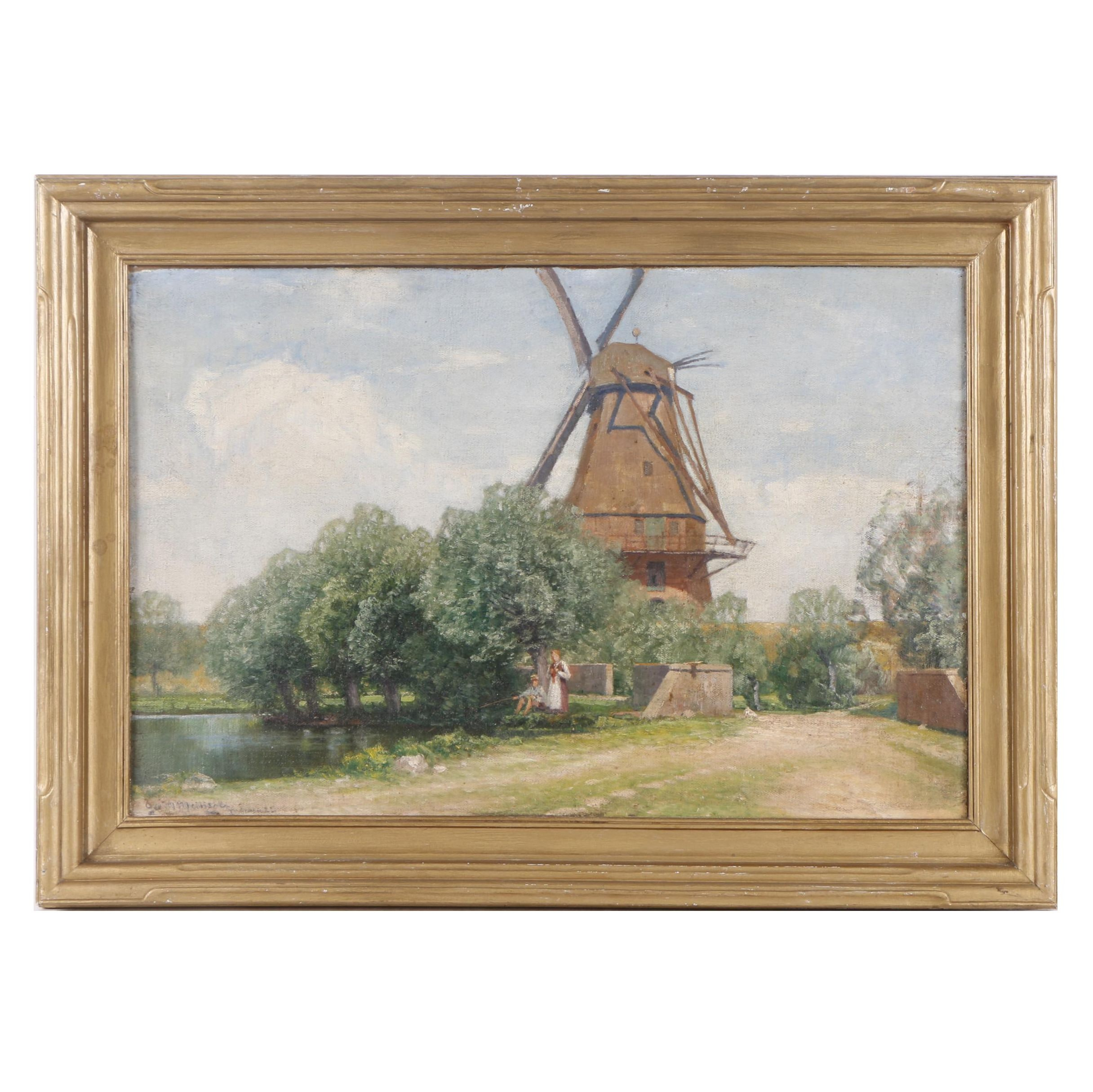 Oil Painting of Windmill