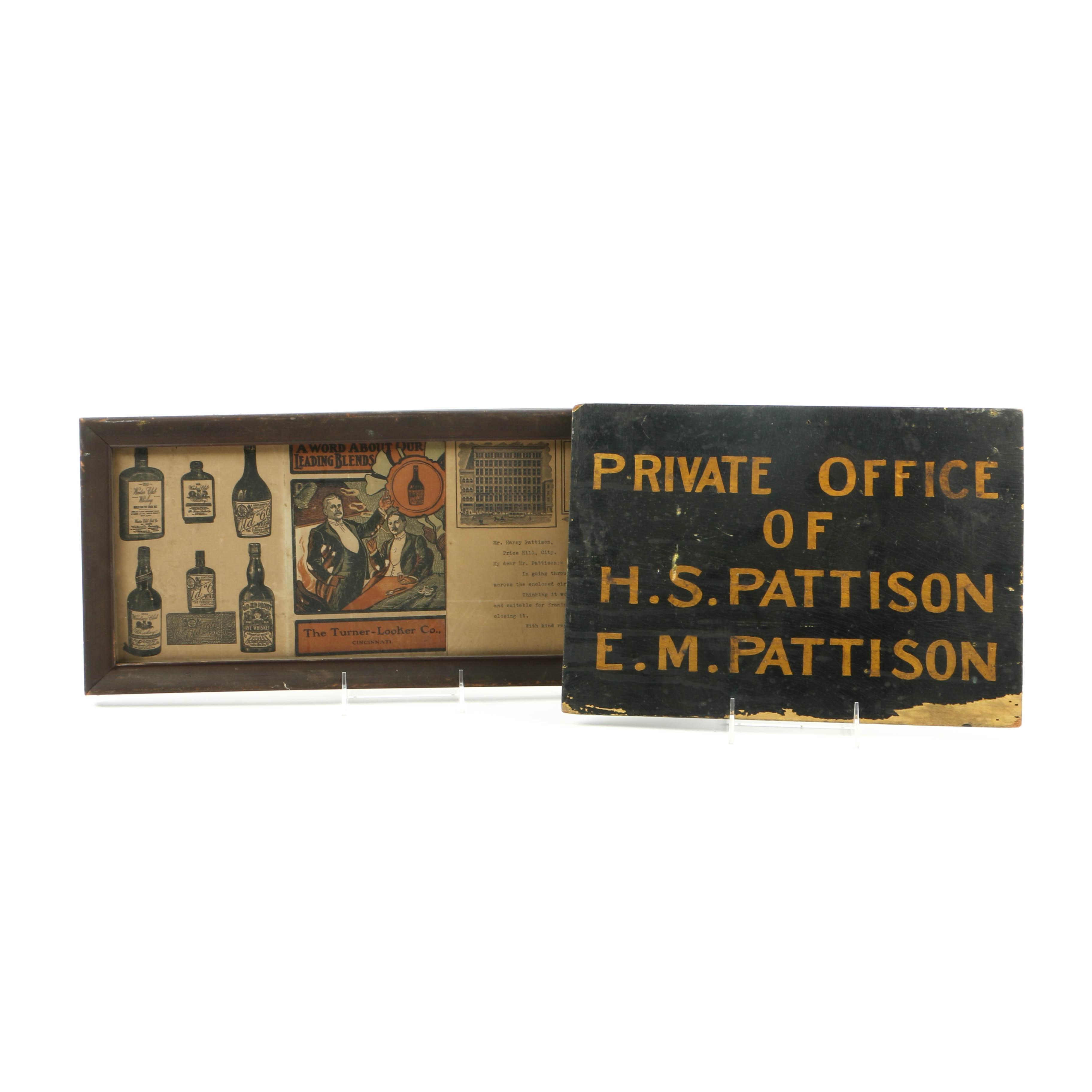 Antique Ephemera Belonging to Cincinnati Distillery Magnate Harry S. Pattison