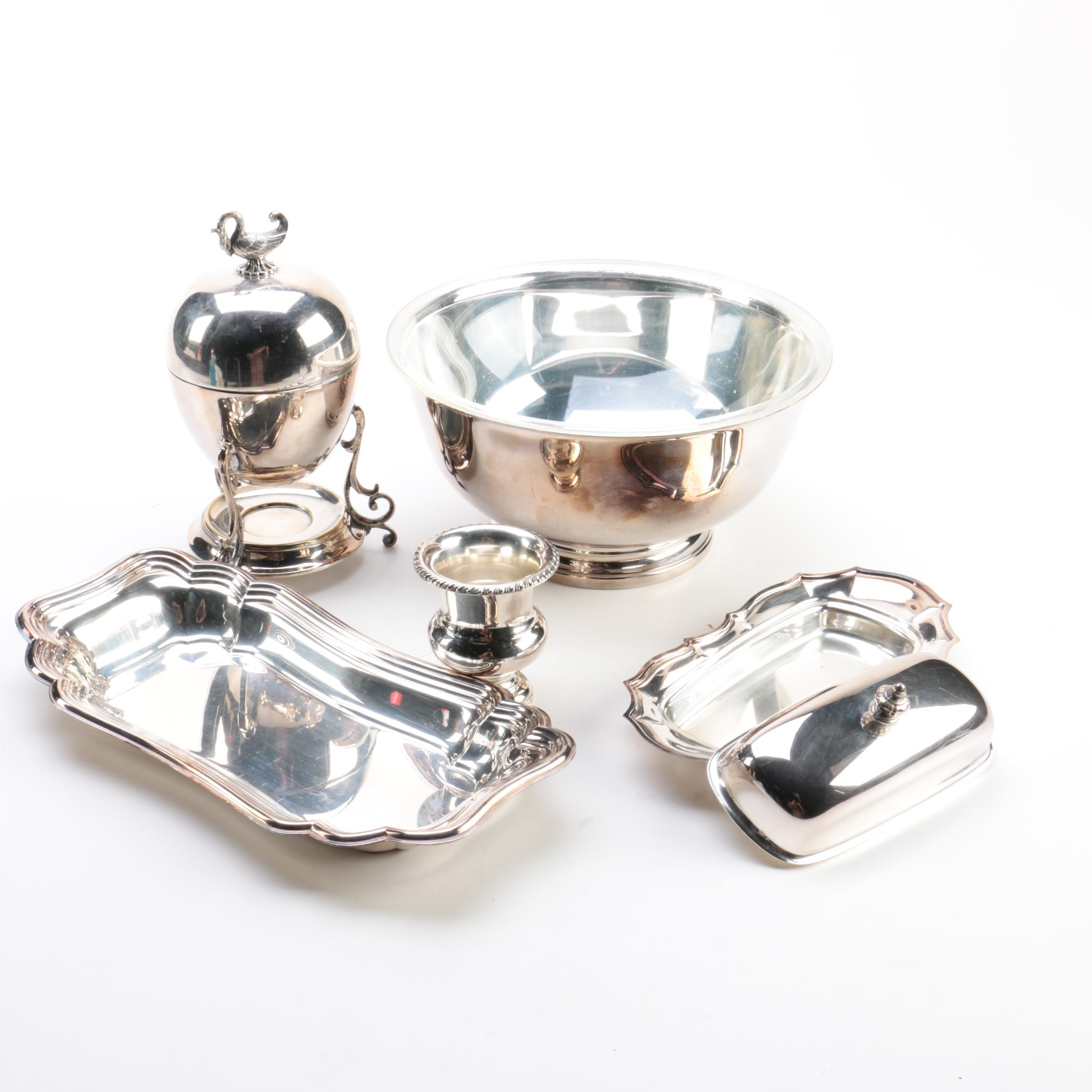 """International Silver Co. """"Chadwich"""" Silver Plate Platter and Other Silver Plate"""