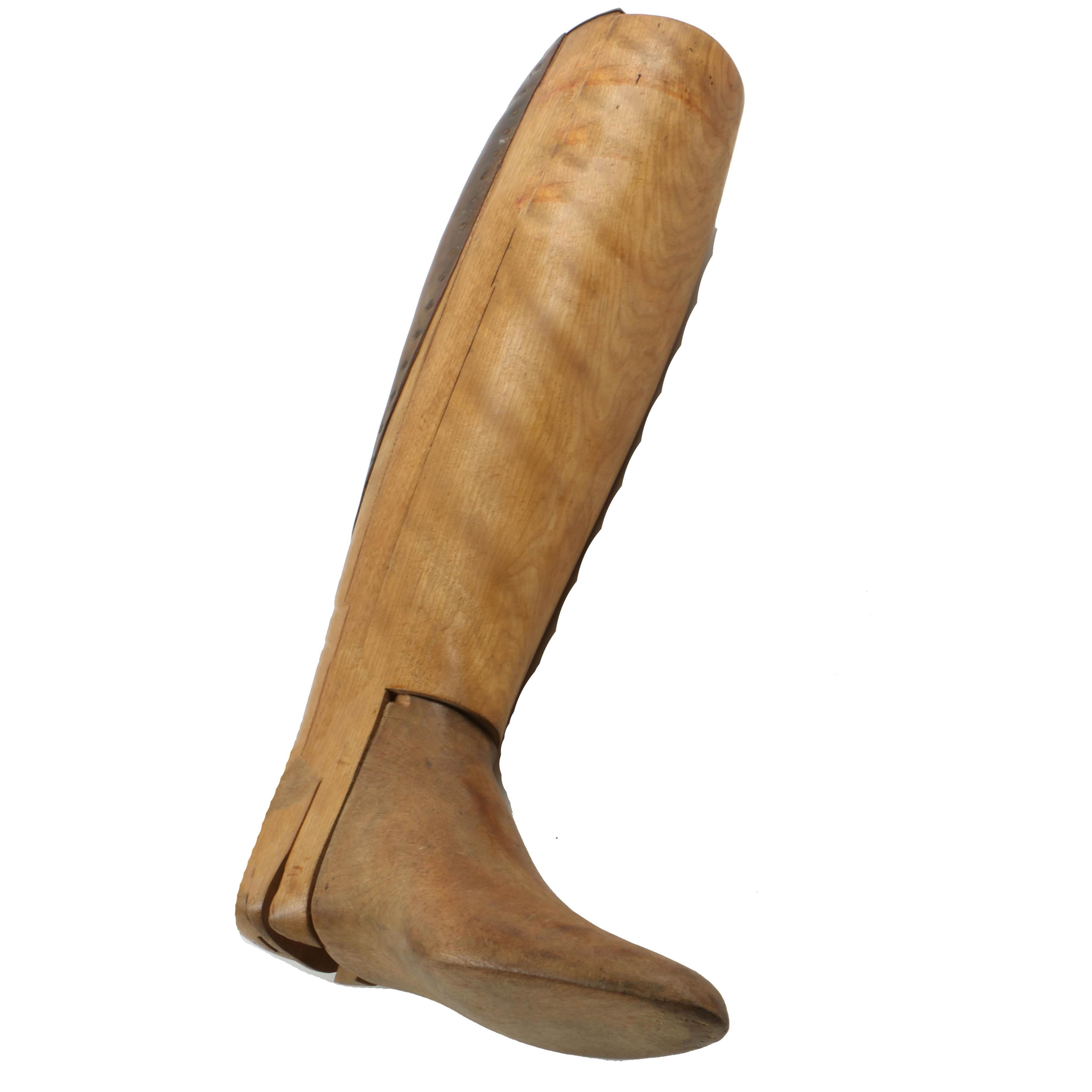 Antique Single Boot Form With Leather Calf