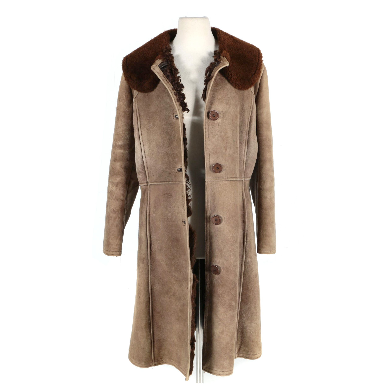 Women's Lambskin, Shearling and Curly Lamb Fur-Lined Coat