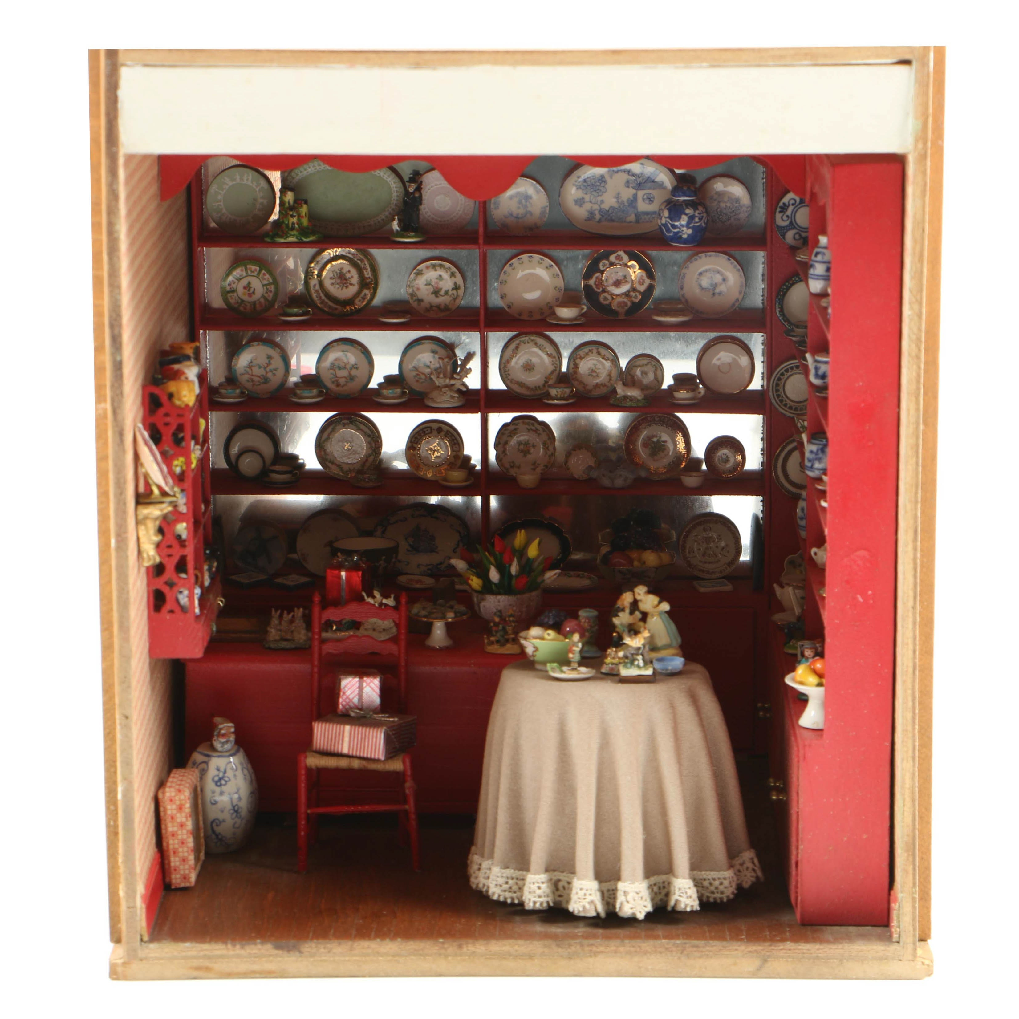 Miniature Porcelain Shop From The Charles Tebelman Collection