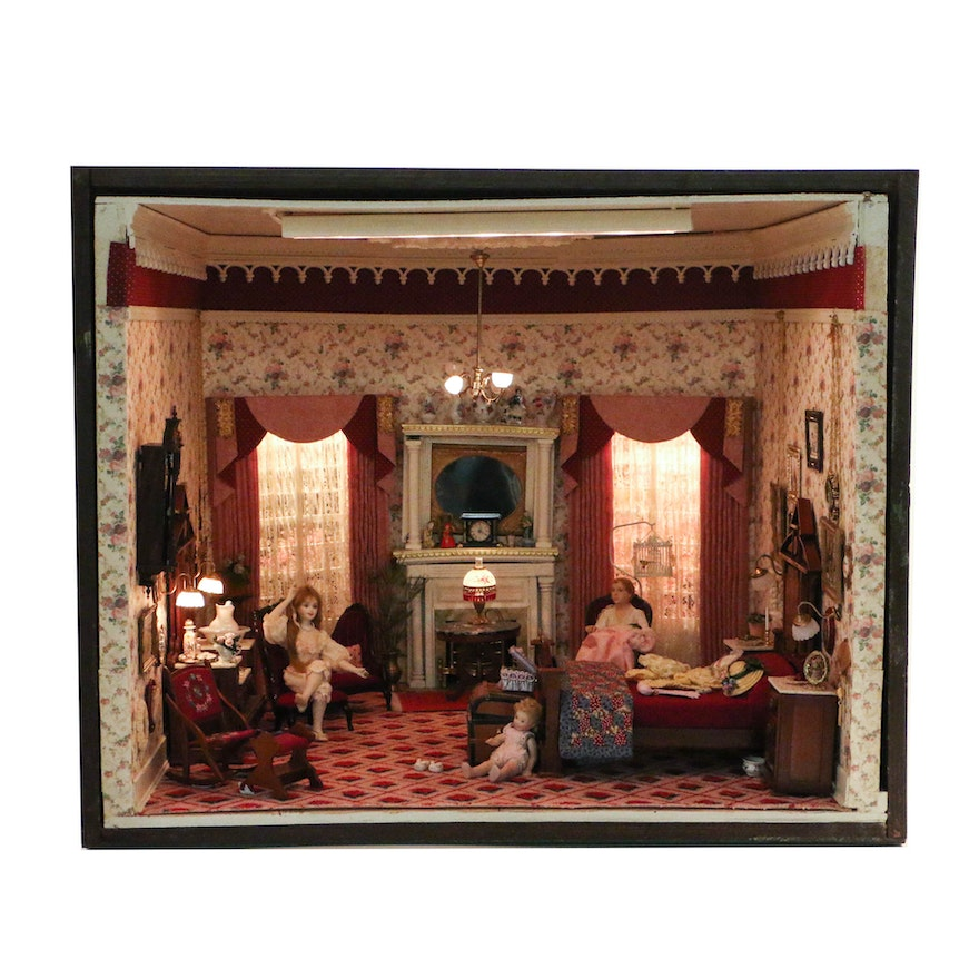 Miniature From The Charles Tebelman Collection, Victorian Bedroom : EBTH