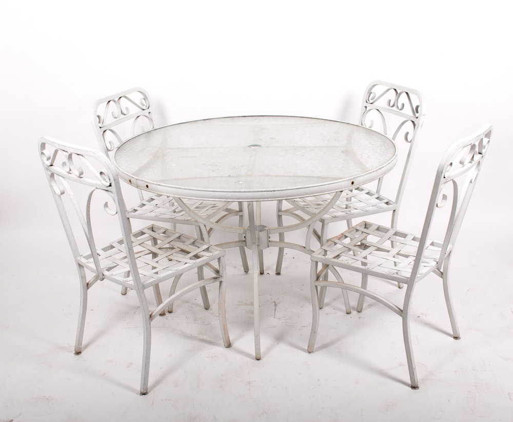 Outdoor Dining Table with Chairs