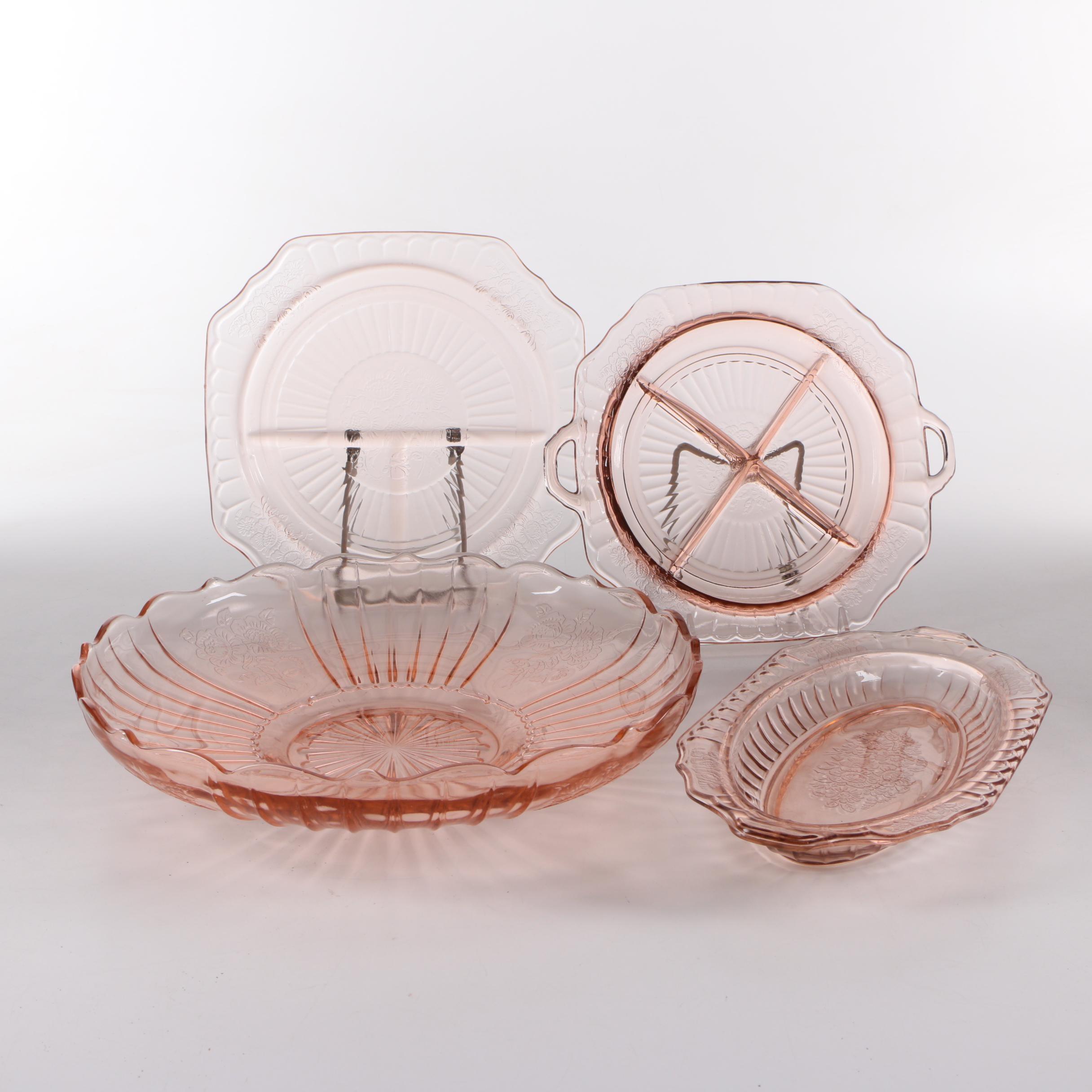 "Anchor Hocking ""Mayfair Pink"" Depression Glass Serveware"