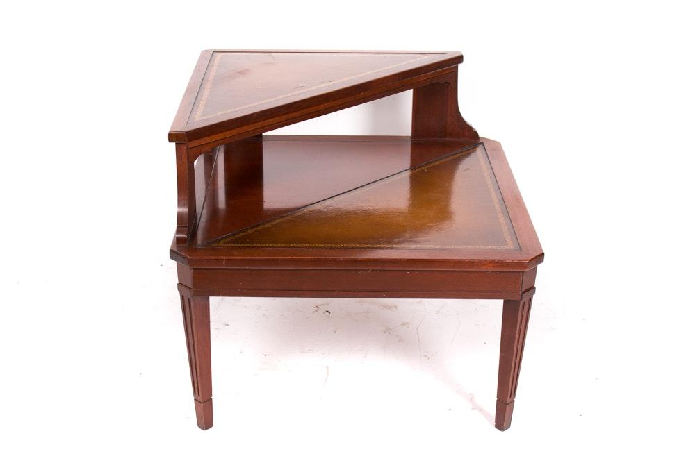 Vintage Regency Style Corner End Table by Mersman