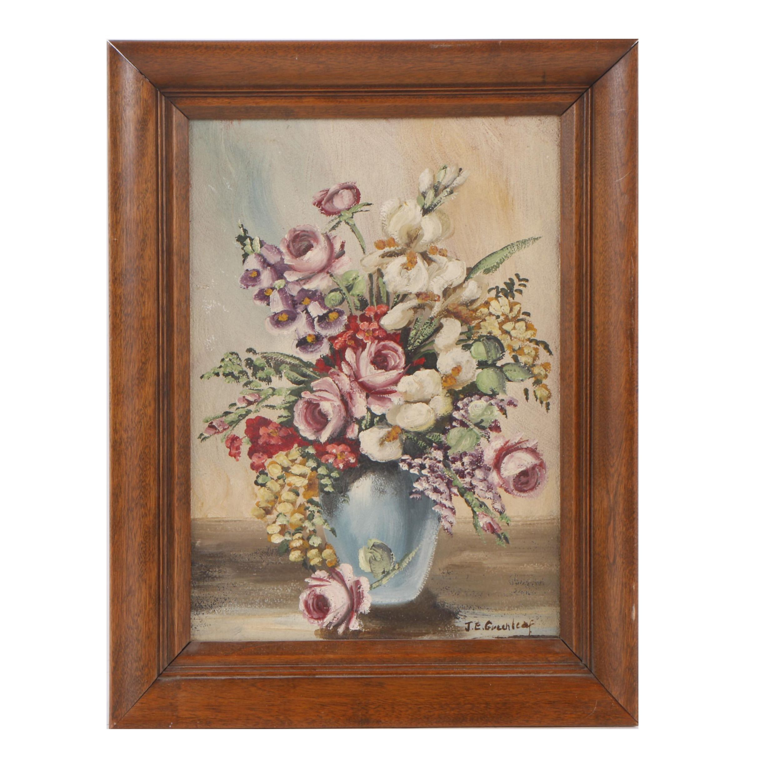 Janet Greenleaf Oil Painting of a Floral Still Life
