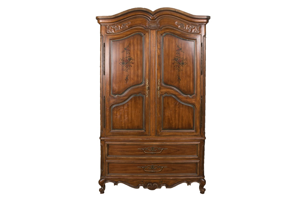 Heritage French Style Pecan Armoire