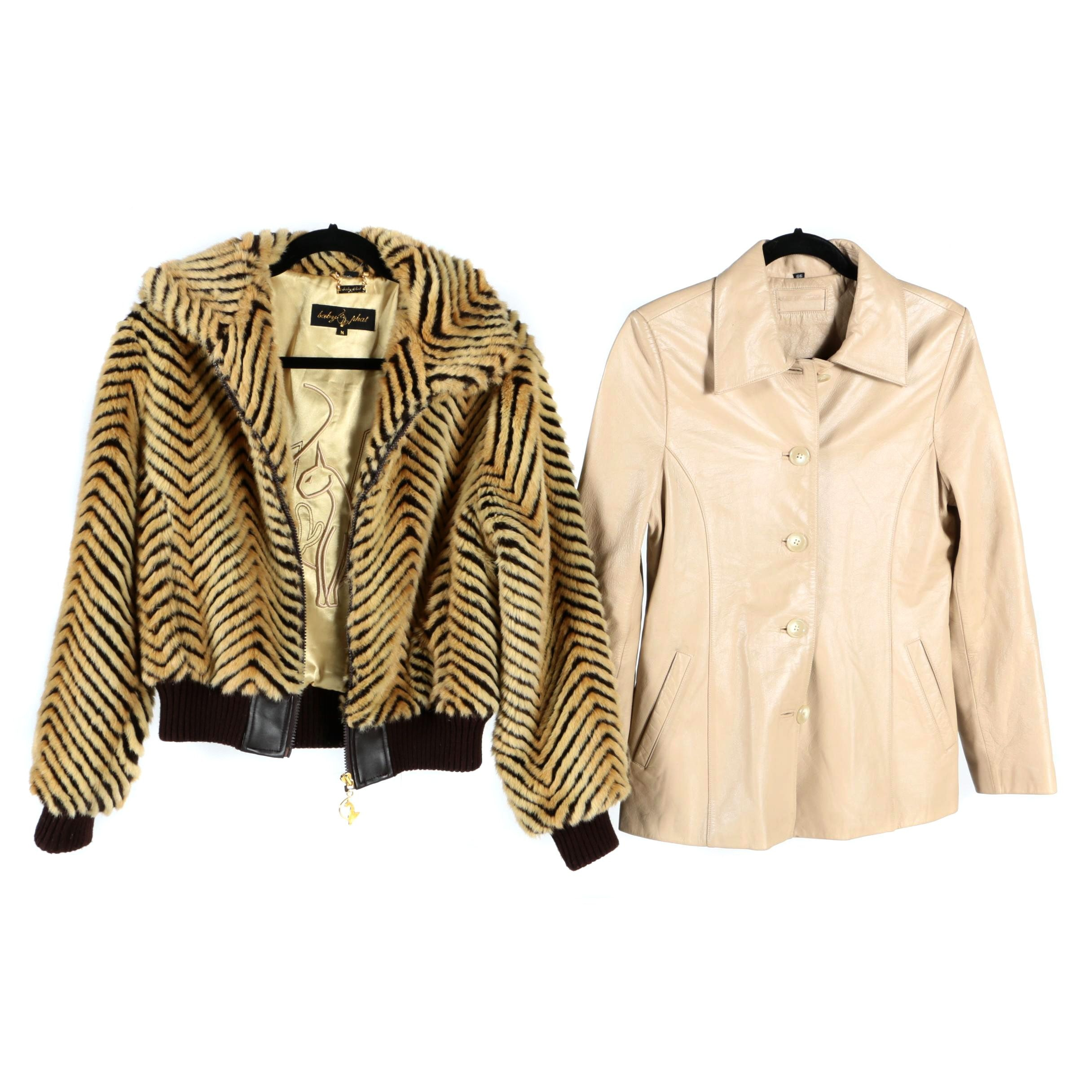 Baby Phat Faux Fur Jacket and Leather Jacket
