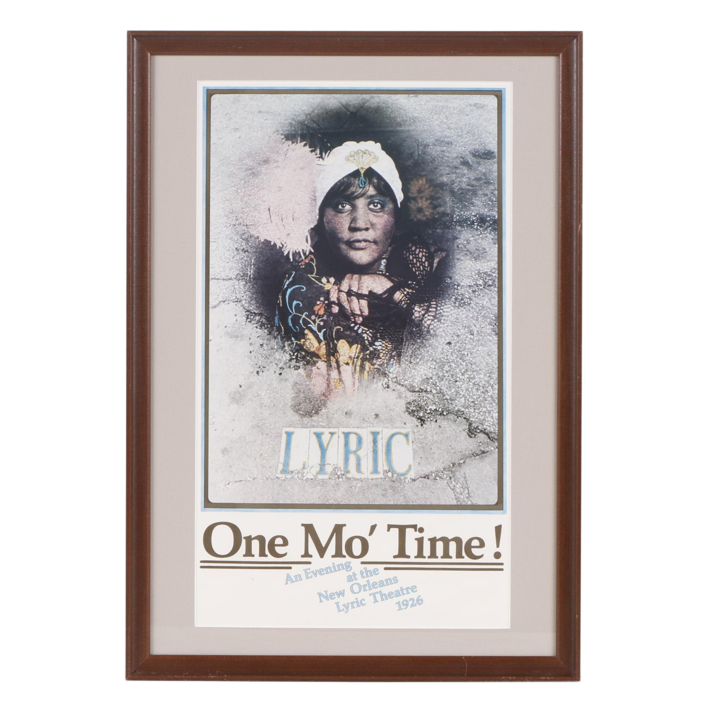"""Circa 1980 Poster for """"One Mo' Time!"""" Off-Broadway Musical"""