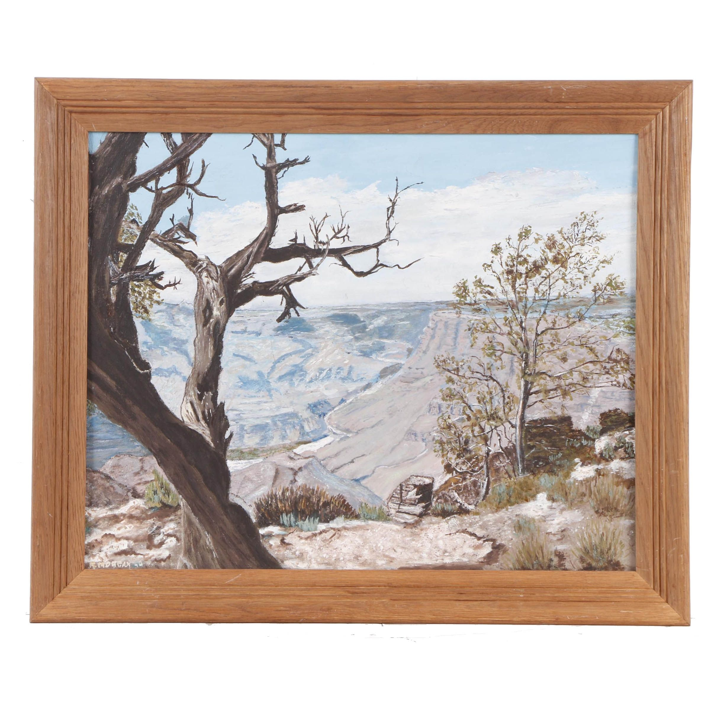 R. Morgan Oil Painting of the Grand Canyon