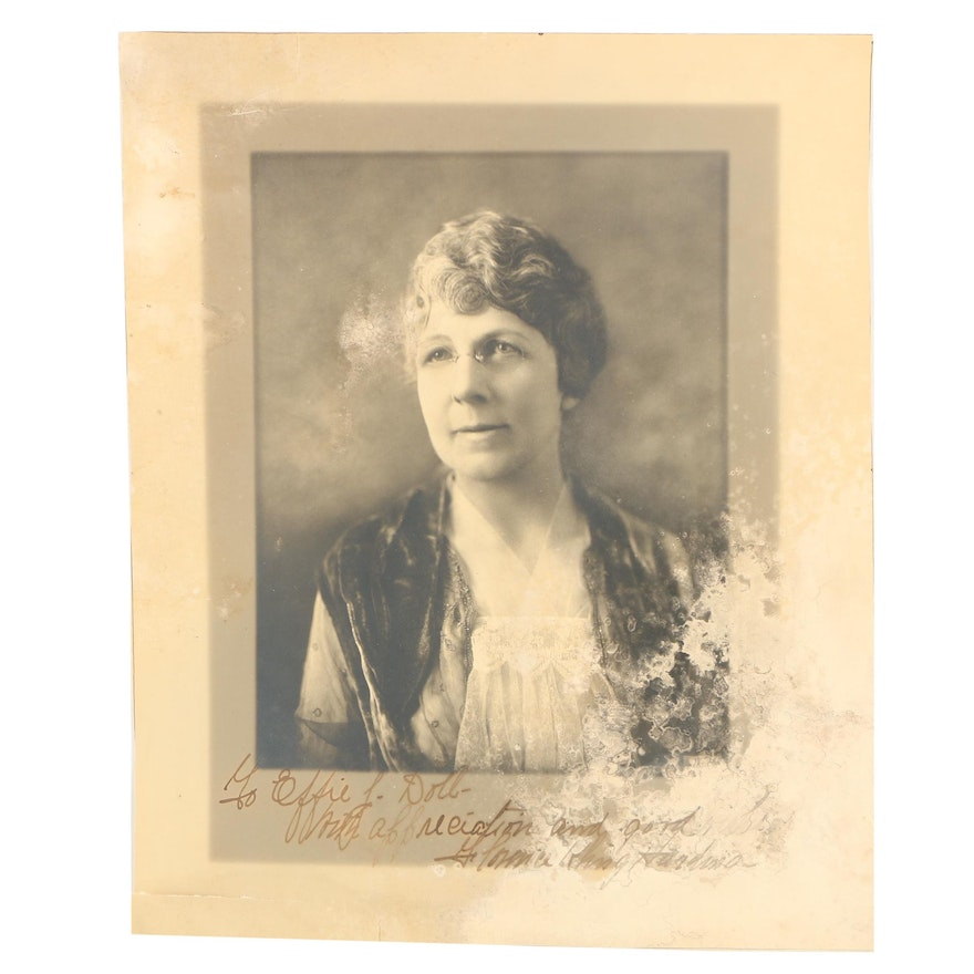 Autographed Photograph of First Lady Florence Kling Harding