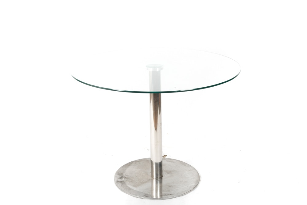 Stainless and Glass Table after Andy Thornton Design
