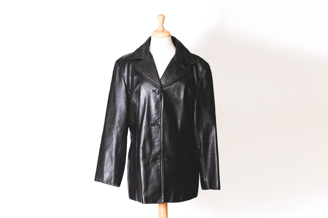 Wilsons Maxima Black Leather Jacket