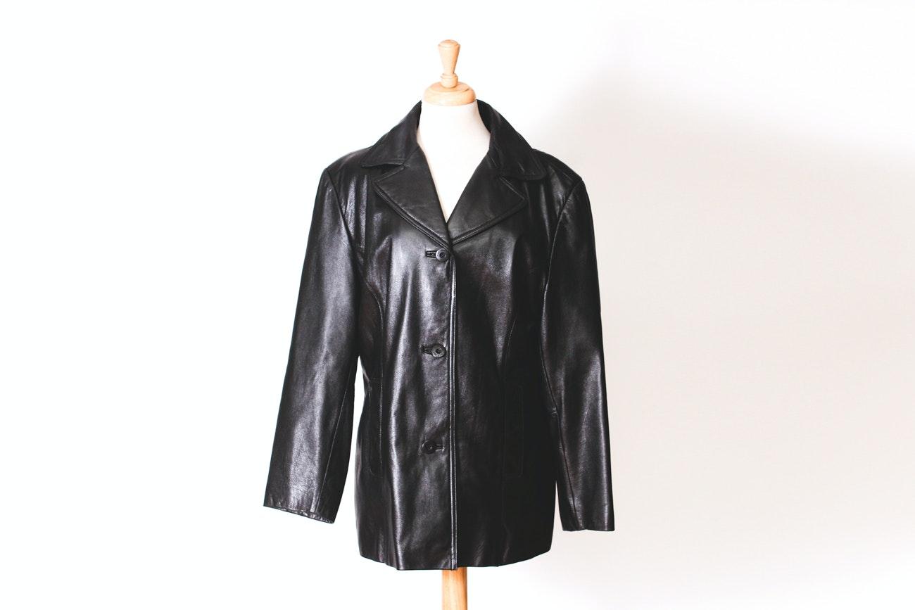 Wilsons Maxima Black Leather Jacket