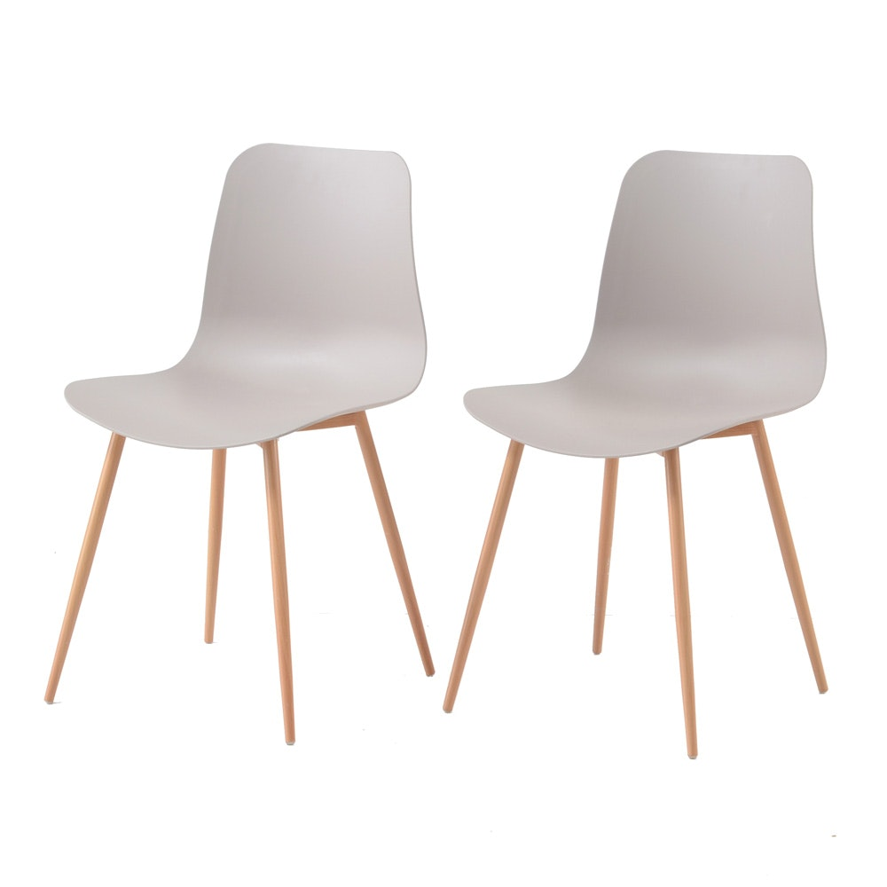 Pair of Contemporary Mid Century Modern Style Side Chairs