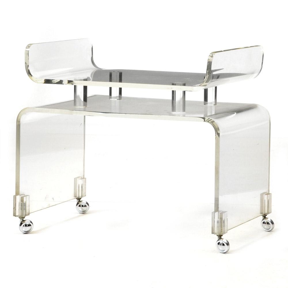 Mid Century Modern Acrylic Bar Cart