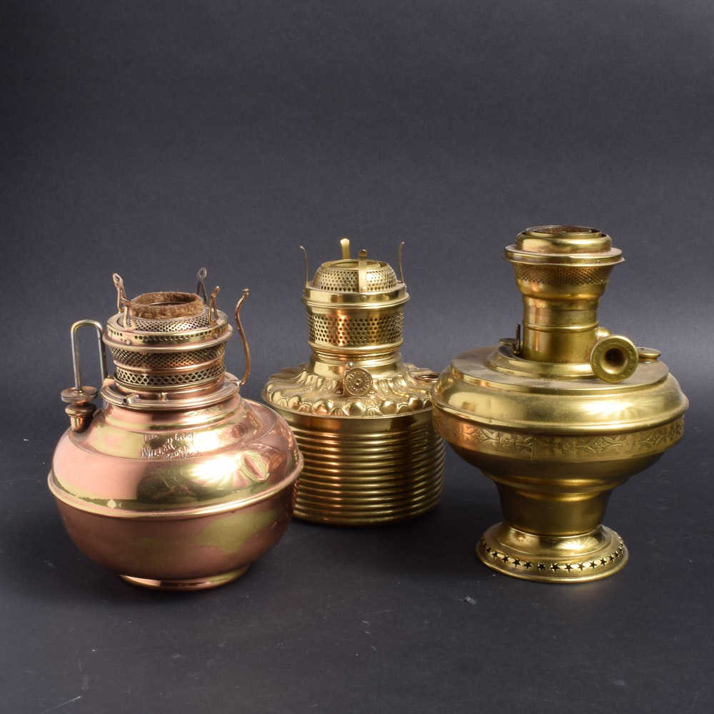 Brass and Copper Lantern Bases
