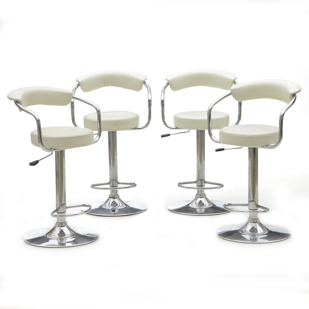 Set of Four Contemporary Modern Style Bar Stools