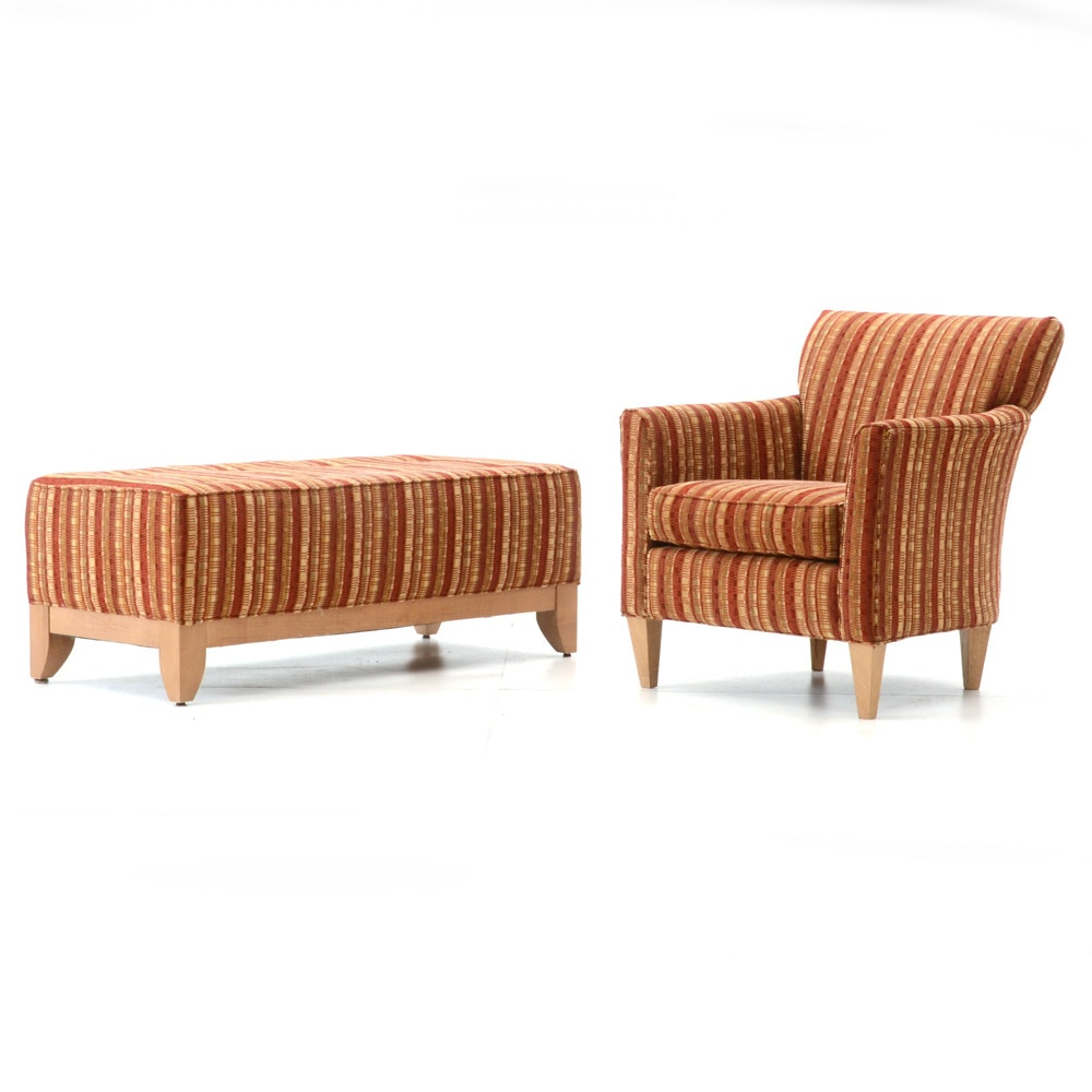 Armchair and Ottoman by Rowe Furniture