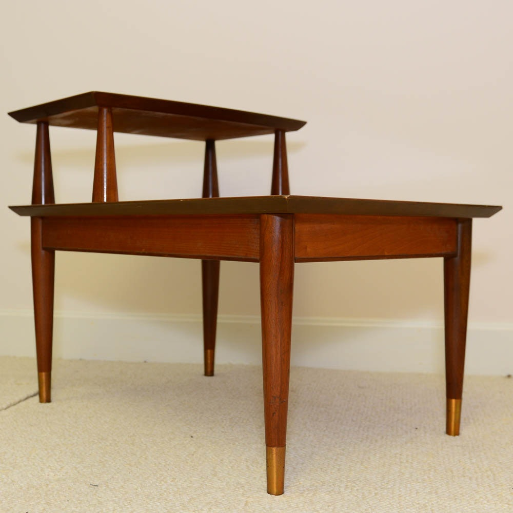 Mid Century Modern Step-Back End Table