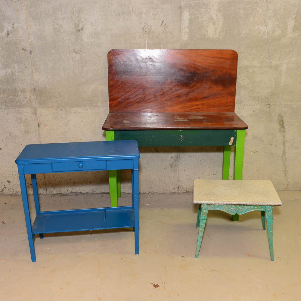 Vintage Side Tables and Game Table
