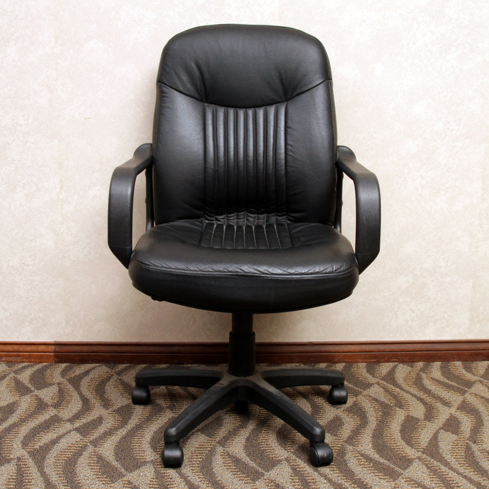 Black Faux Leather Executive Office Chair