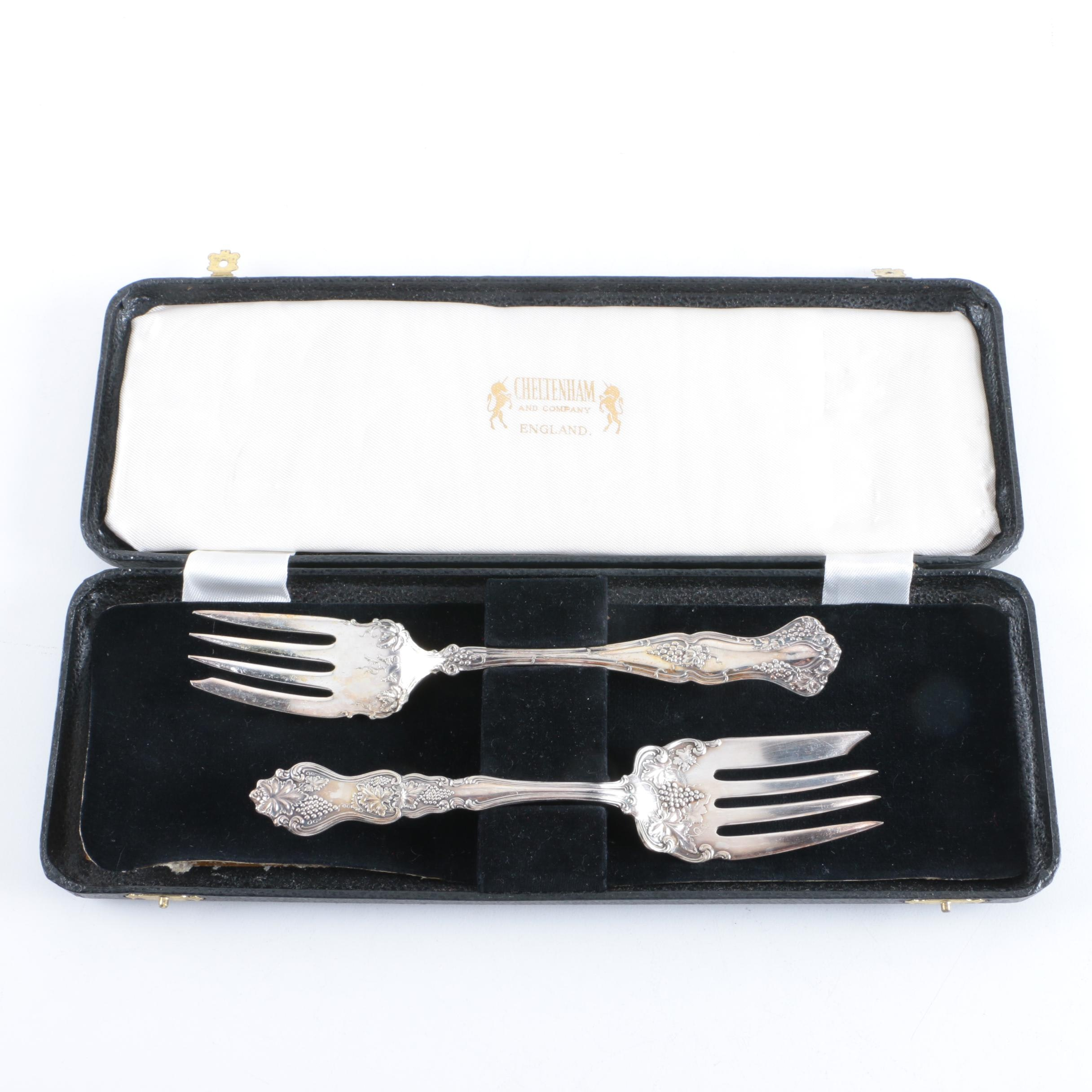 American Silver Co. Silver Plate Salad Forks