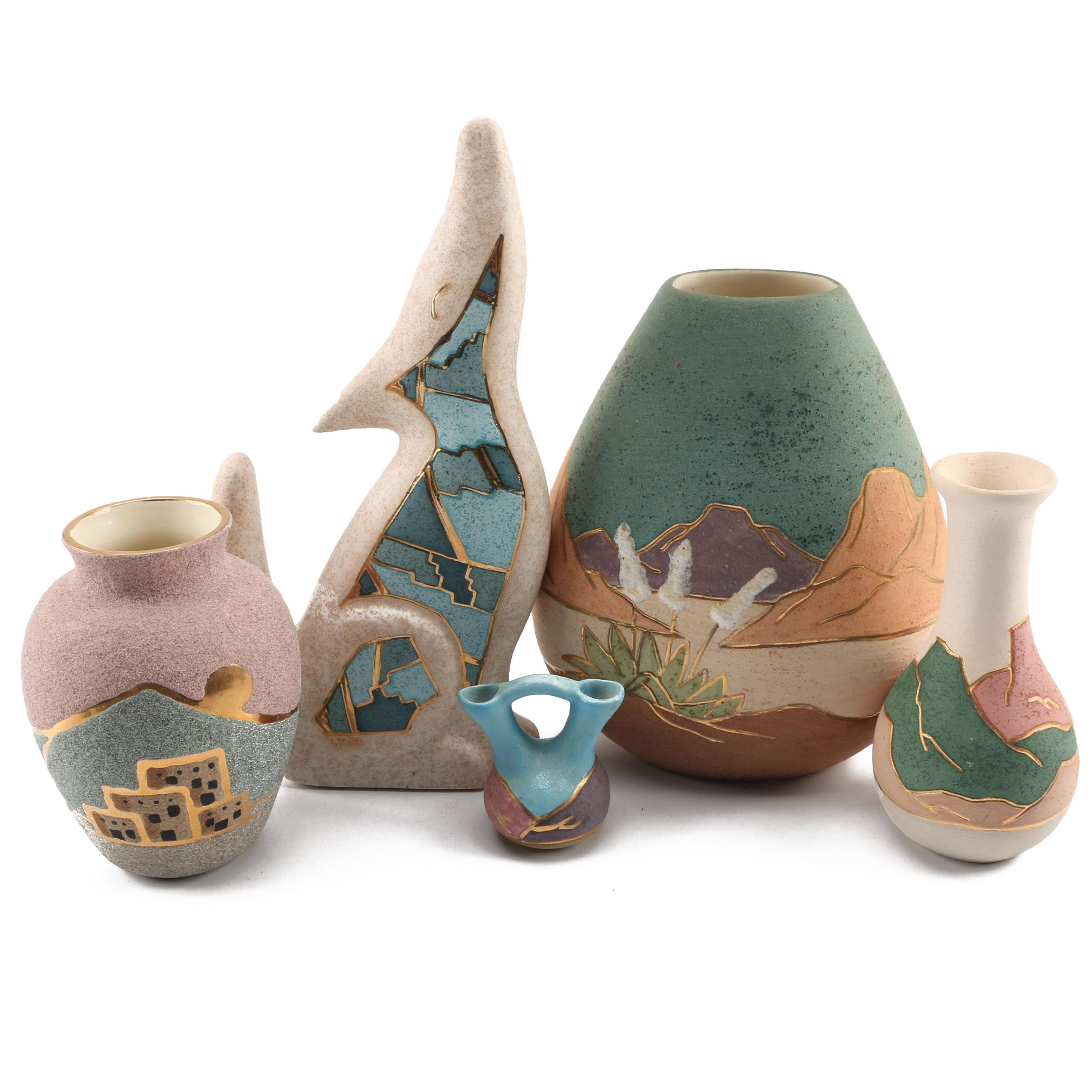 Southwestern Inspired Art Pottery including Vera Russell