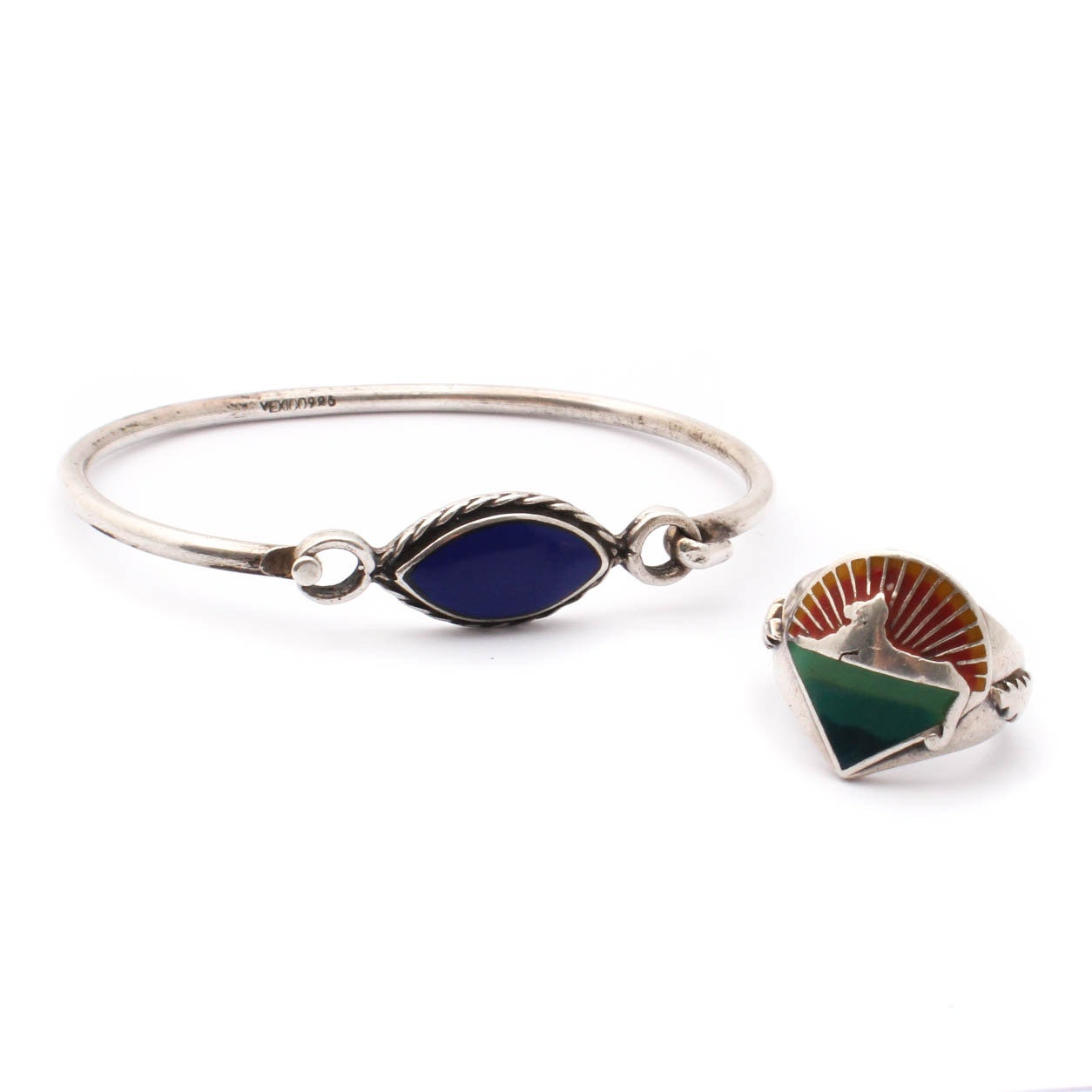Sterling Silver and Enamel Jewelry