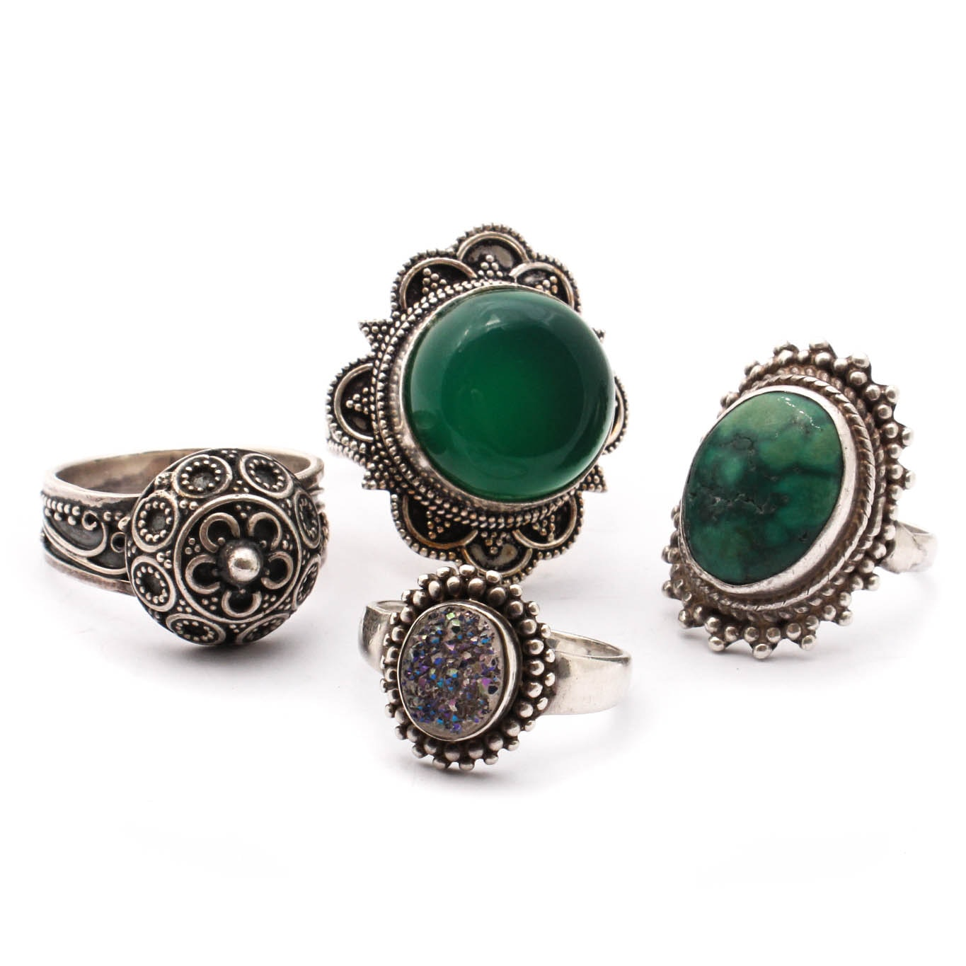 Sterling Silver Ring Selection Featuring Turquoise
