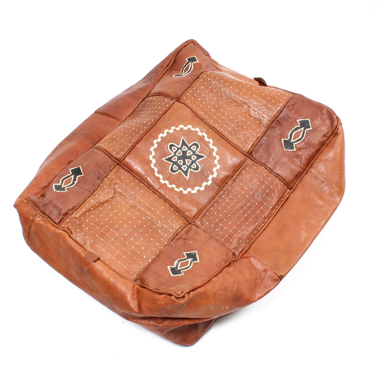 Leather Ottoman Cover