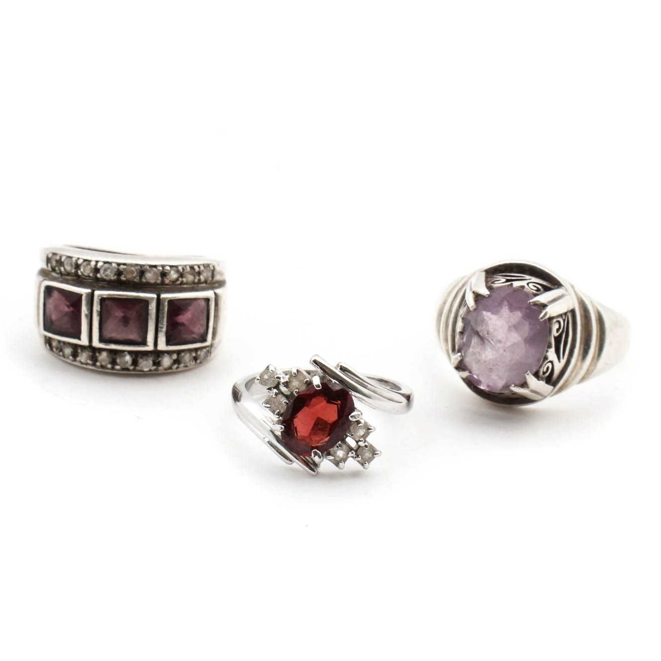 Sterling Silver Gemstone Ring Collection