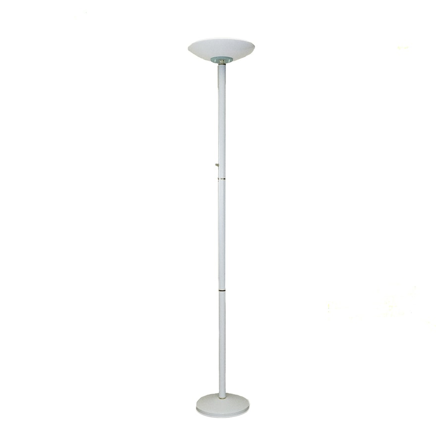 Vintage torchiere style white floor lamp ebth vintage torchiere style white floor lamp mozeypictures Gallery
