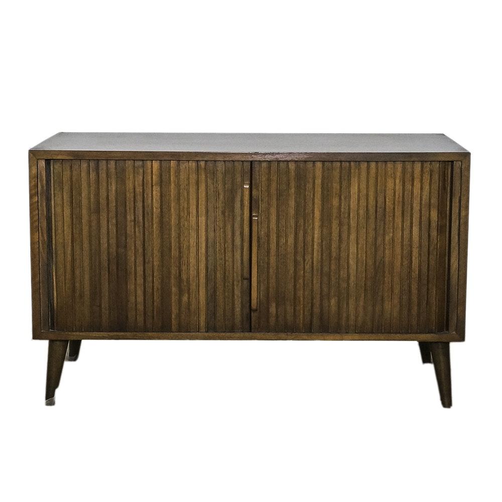 Mid Century Modern Walnut Console Cabinet