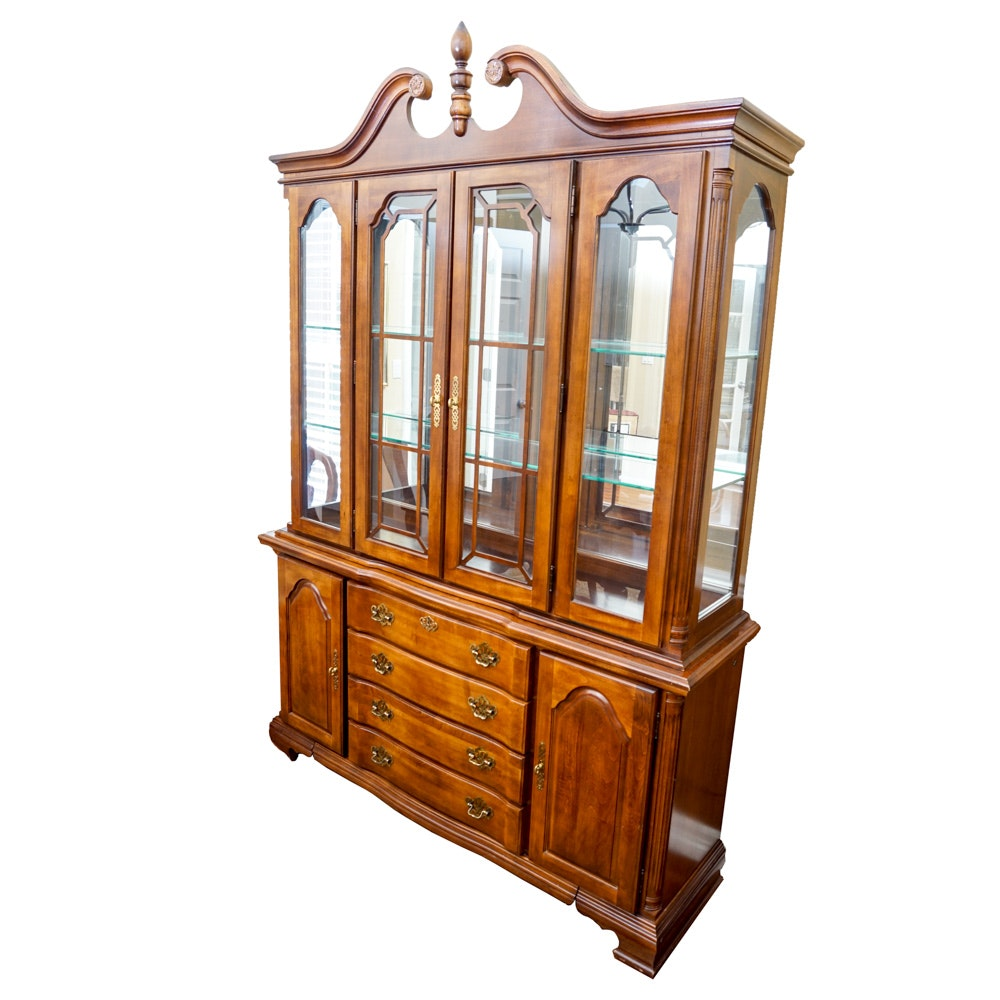 Colonial Style China Cabinet by American Drew
