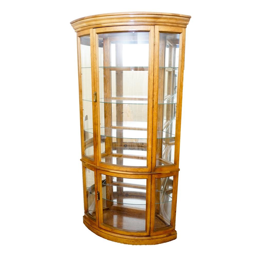 Pecan Corner Curio Cabinet