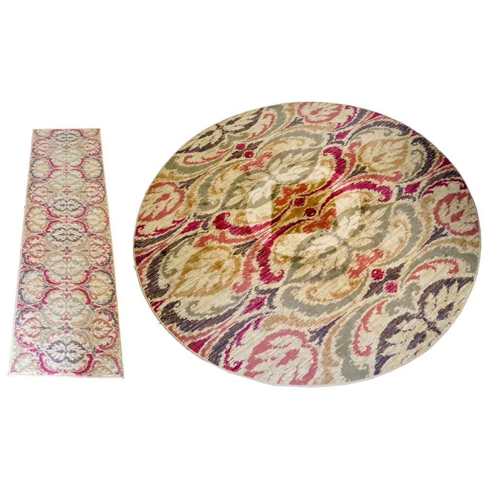 """Power-Loomed Turkish """"Lifestyles"""" Area Rug and Carpet Runner by Kas"""